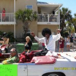 Sterling Joyce doing his thing in the Opening of the Beaches parade 2011.