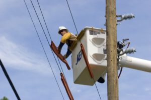 Track power outages during storm